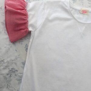 olivia-t-shirt-bambina-quadretti-vichy-rossi