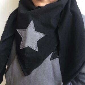 bandana-in-felpa-nera-stella-grigia