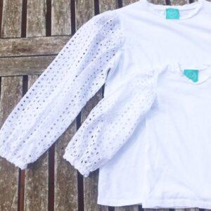 calipso-t-shirt-mamma-e-figlia-maniche-sangallo
